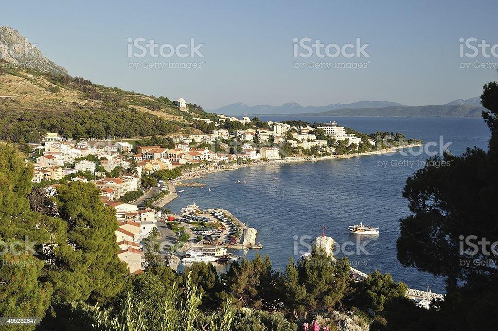 Widok Podgora.  Chorwacja zbiór zdjęć royalty-free