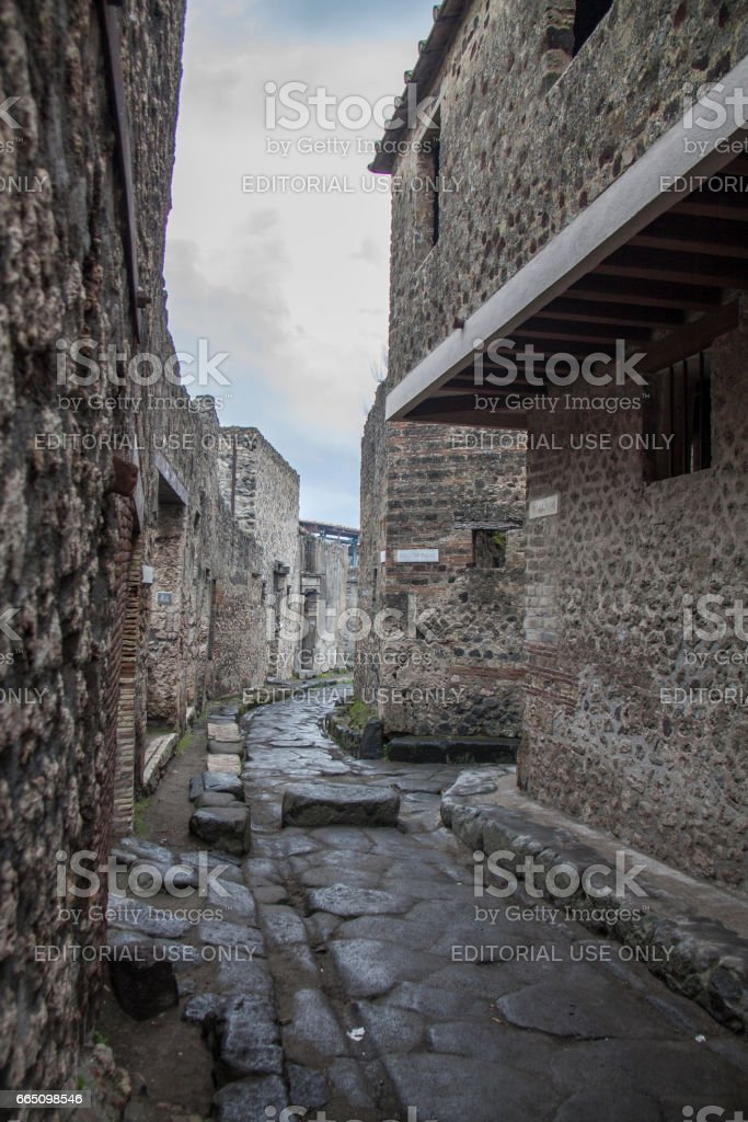 View of Pompeii in winter, Rome, Italy stock photo