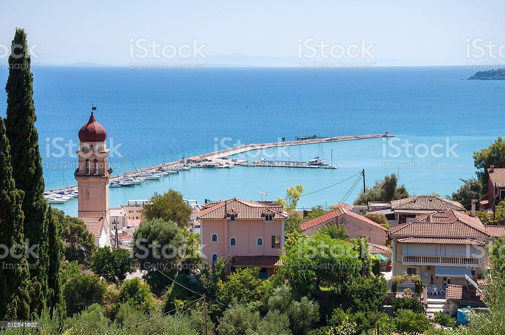View of port in Zante town stock photo