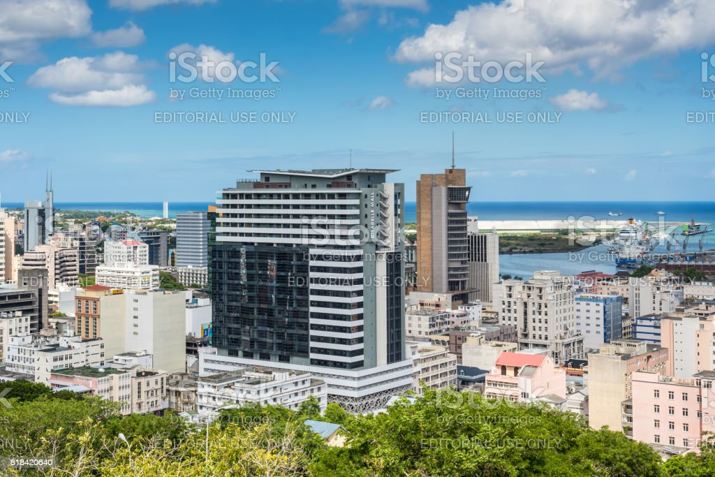 View of Port Louis, Mauritius, Africa stock photo