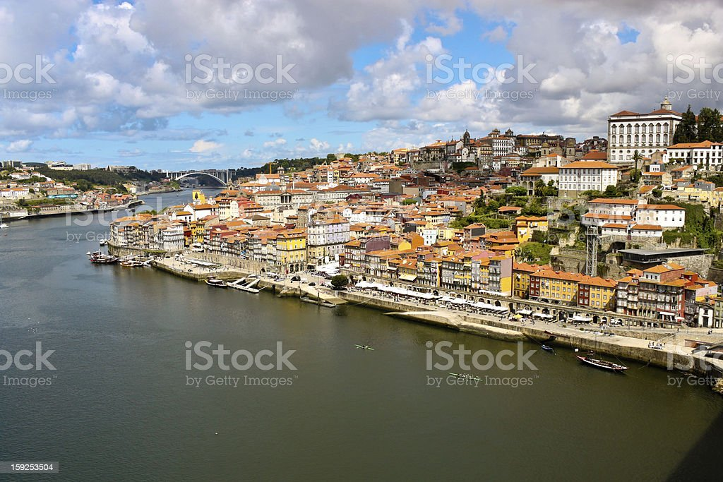 view of Porto and Douro river royalty-free stock photo