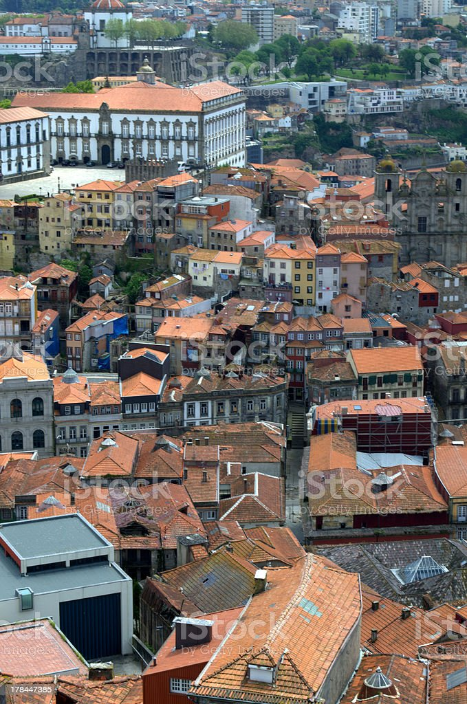 View of Porto from the rooftops, Portugal royalty-free stock photo