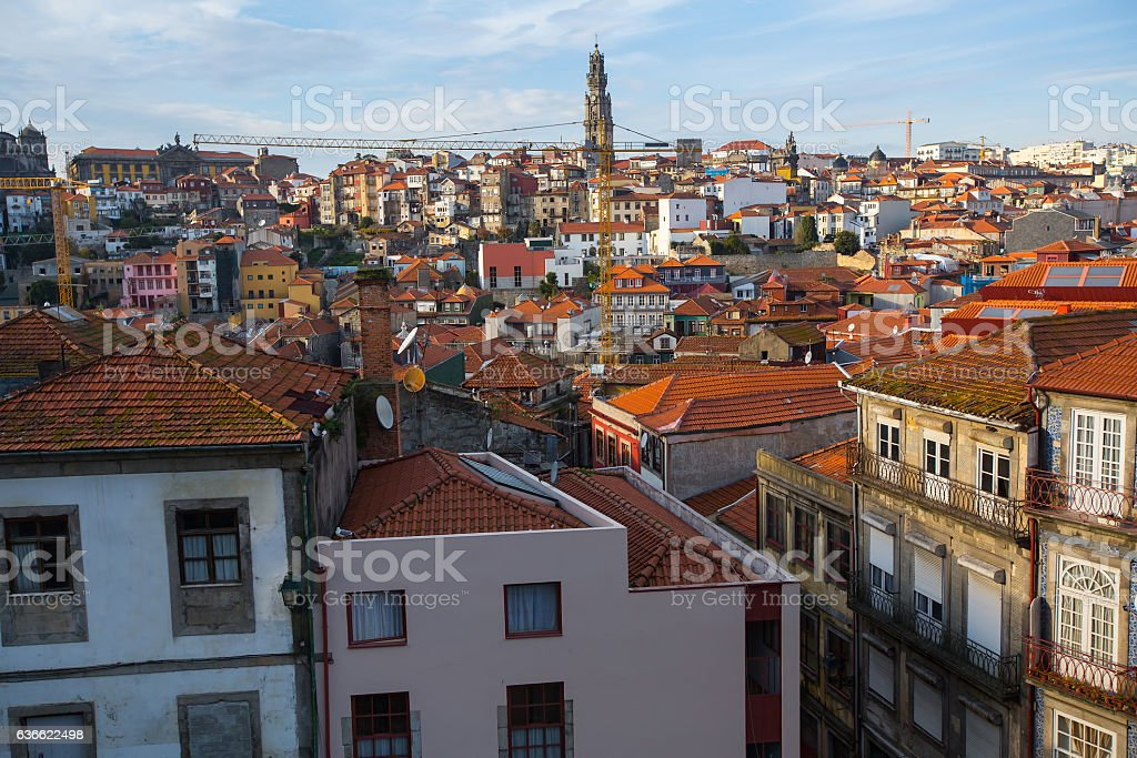View of Porto old town, Portugal. stock photo