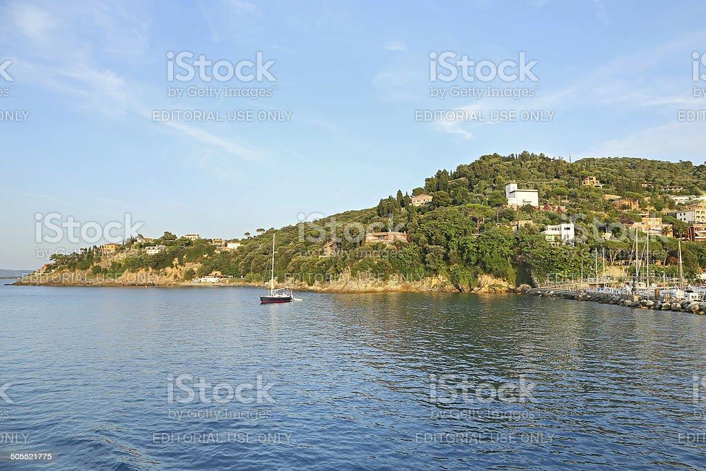View of Porto Santo Stefano - Grosseto, Italy stock photo