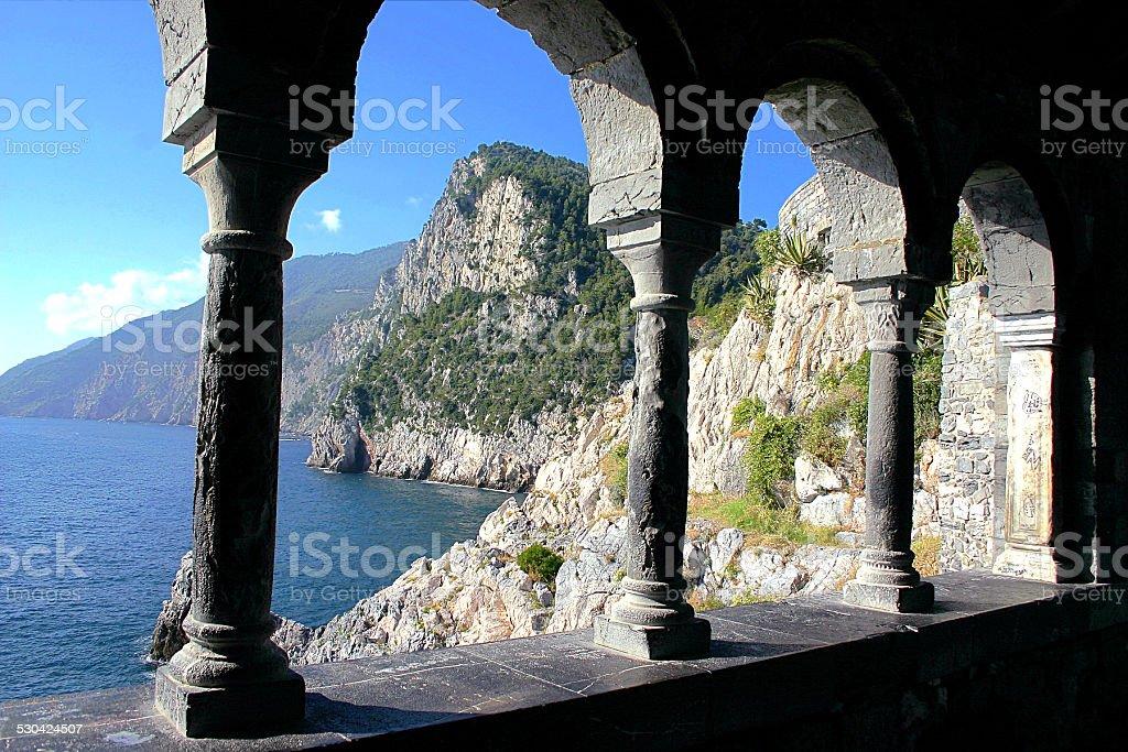 View of Portovenere, Italy stock photo