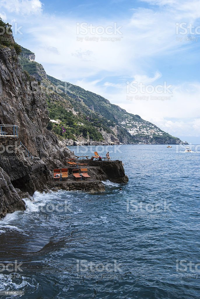 View Of Positano's Coast stock photo