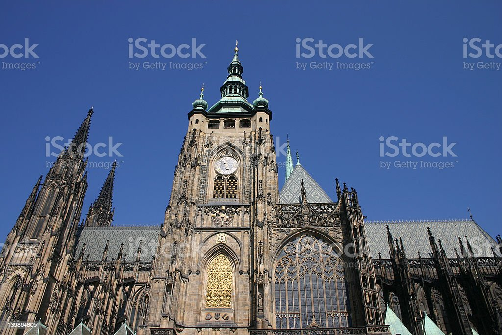 view of Prague Cathedral stock photo