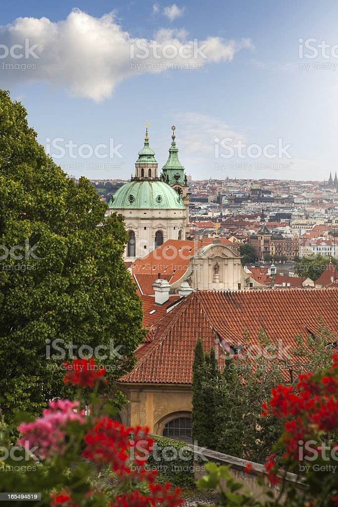 View of Prague in summer royalty-free stock photo