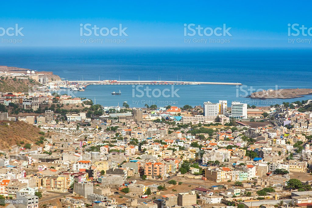 View of Praia city in Santiago Cape Verde stock photo