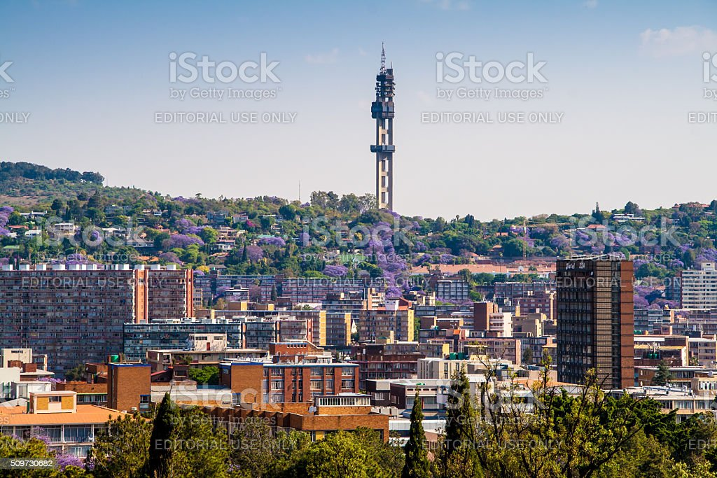 View of Pretoria South Africa from the Union Buildings stock photo