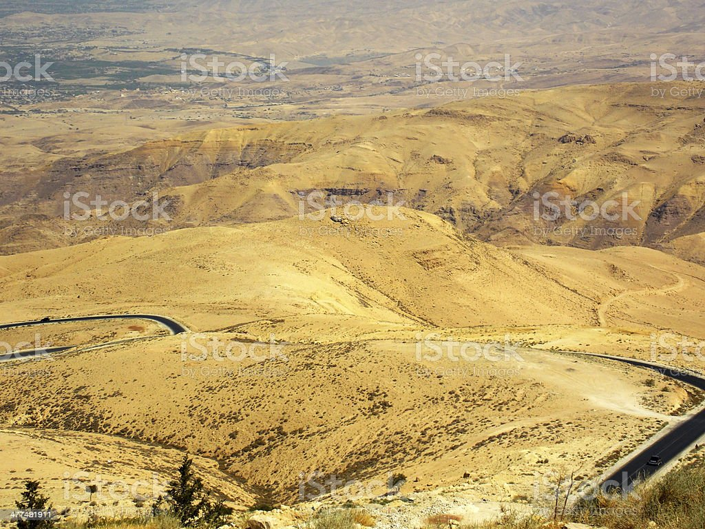 view of Promised Land from Mount Nebo in Jordan royalty-free stock photo