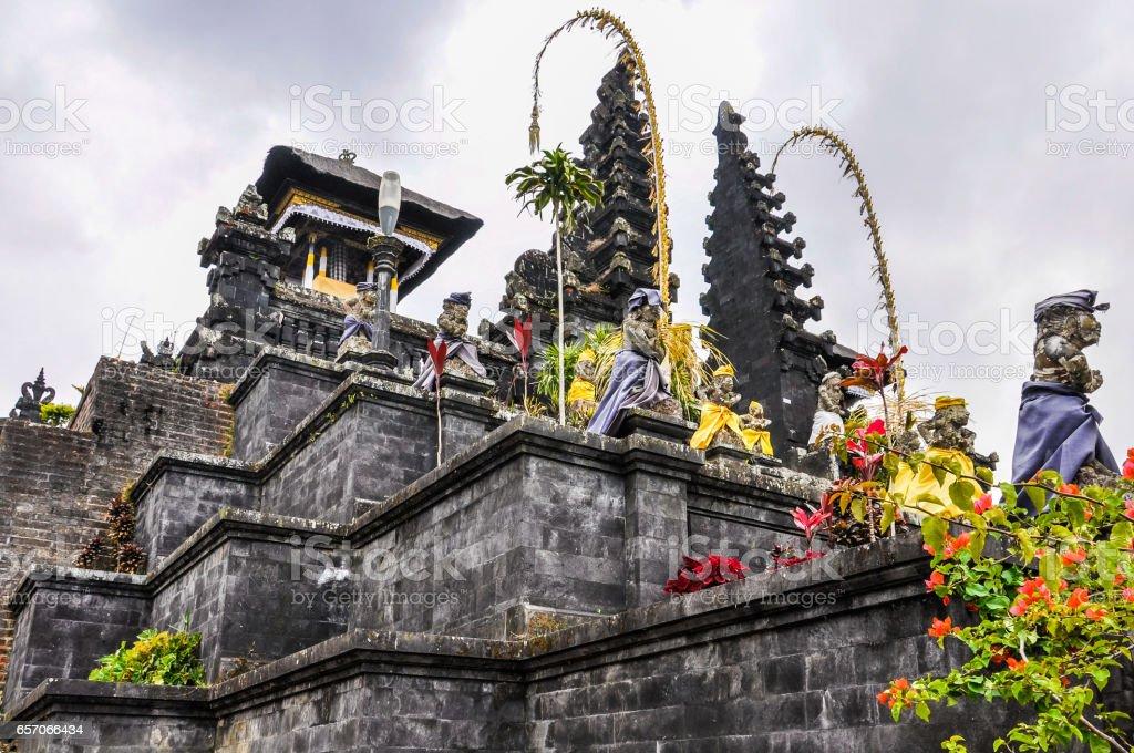 View of Pura Besakih Temple in Bali, Indonesia stock photo