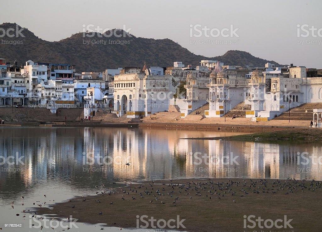 View of Pushkar royalty-free stock photo