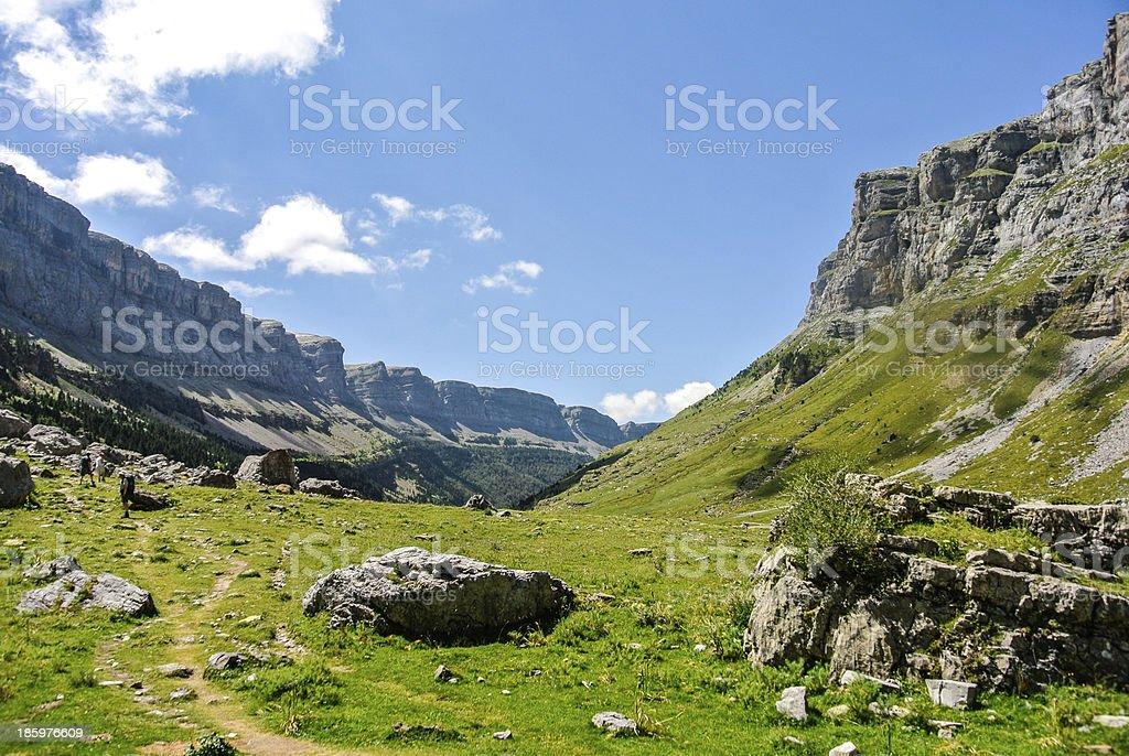 View of Pyrenees mountains (Ordesa, Spain) royalty-free stock photo