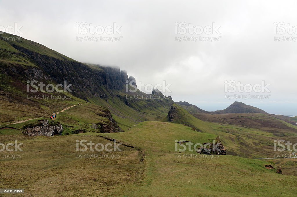 View of Quiraing stock photo