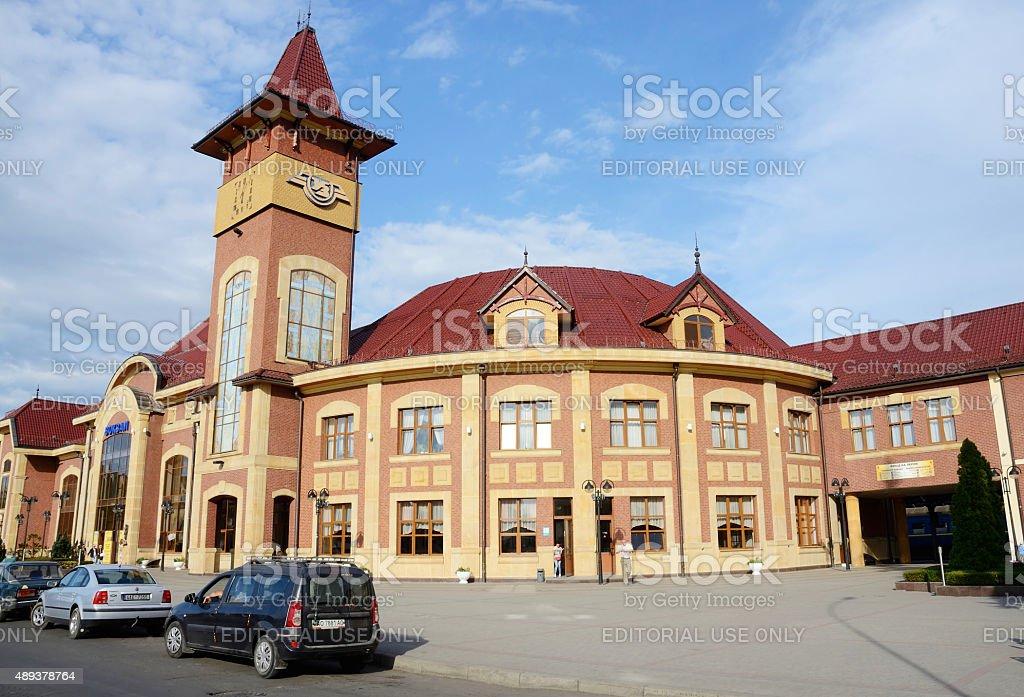 View of railway station in Uzhhorod,Western Ukraine,Europe stock photo