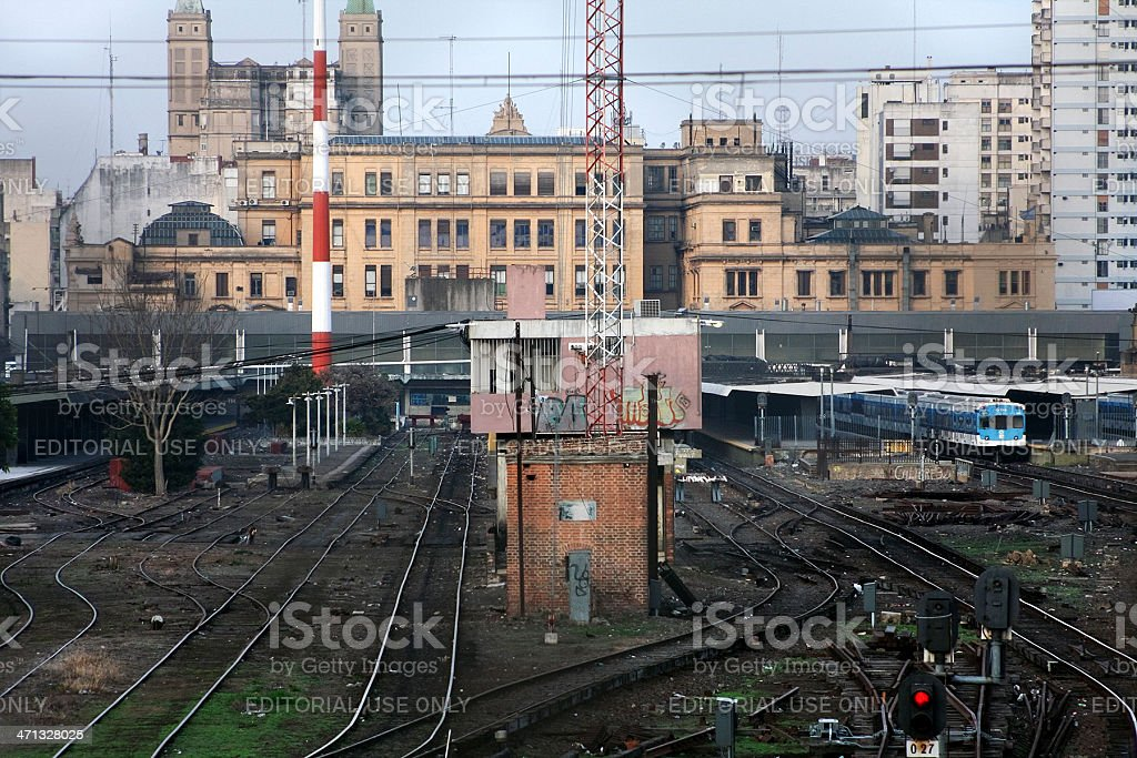 View of railway station. stock photo