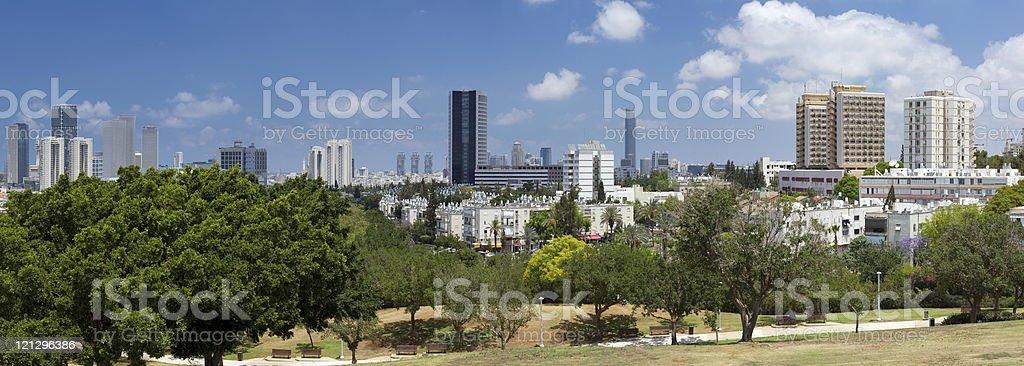 View of Ramat Gan stock photo