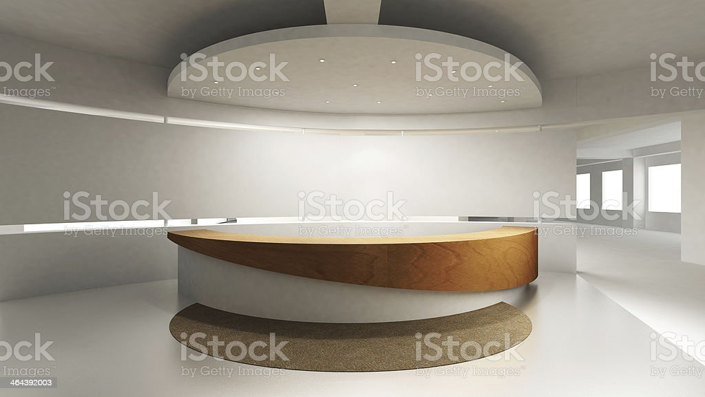 View of reception counter in modern office stock photo
