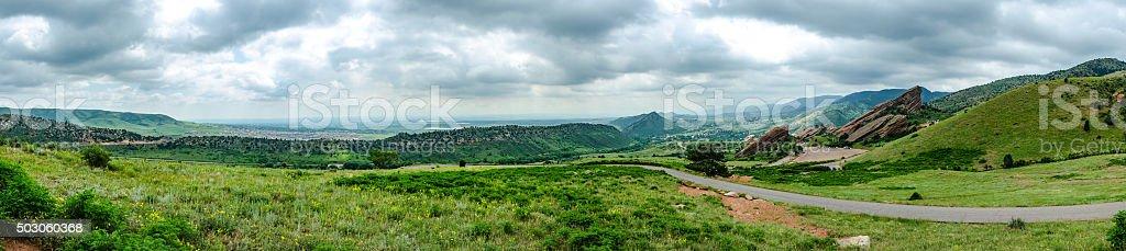 view of Red Rocks Panorama stock photo