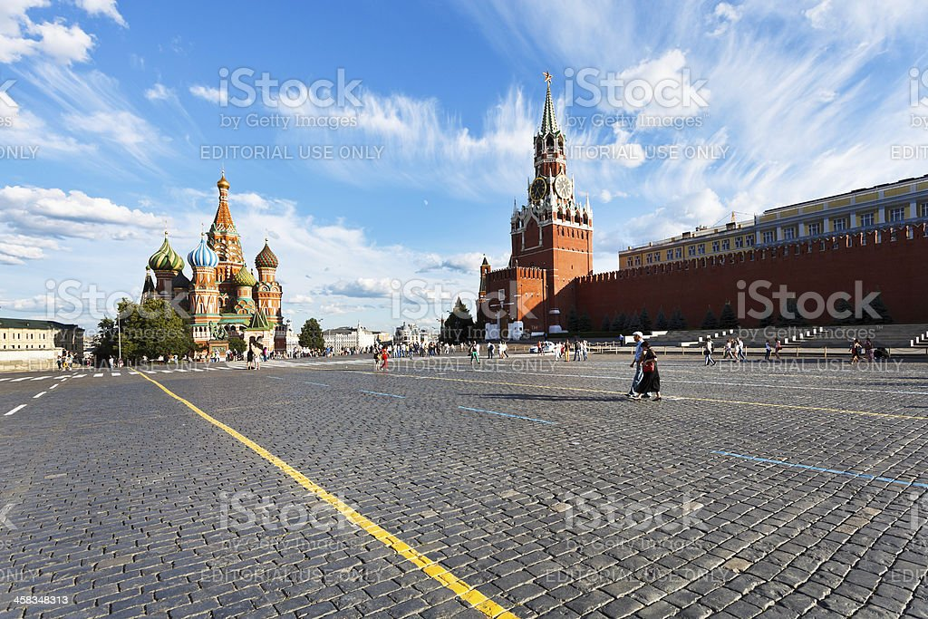 view of Red Square in Moscow royalty-free stock photo