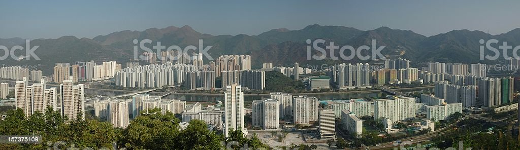 View of Resident Area in Hong Kong stock photo