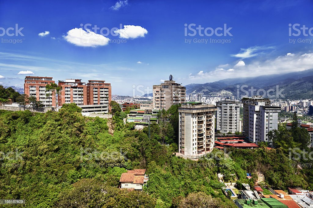 View of residential district buildings in a capital city royalty-free stock photo