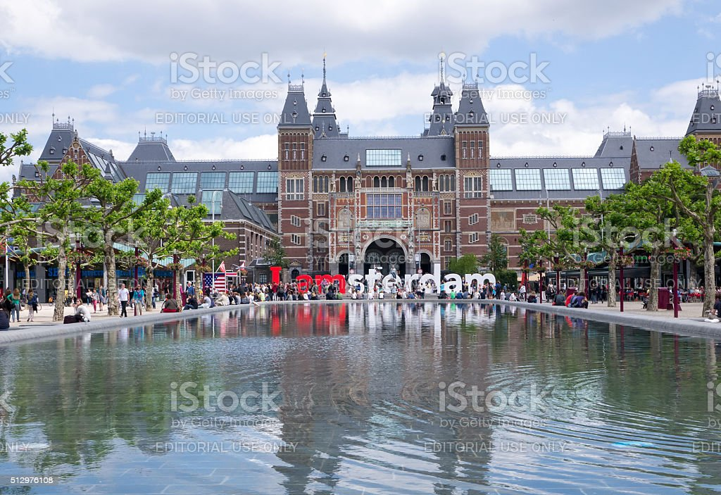 View of Rijksmuseum, Amsterdam stock photo