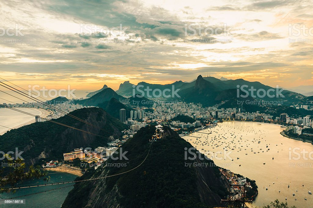 View of Rio de Janeiro from Sugarloaf Mountain stock photo
