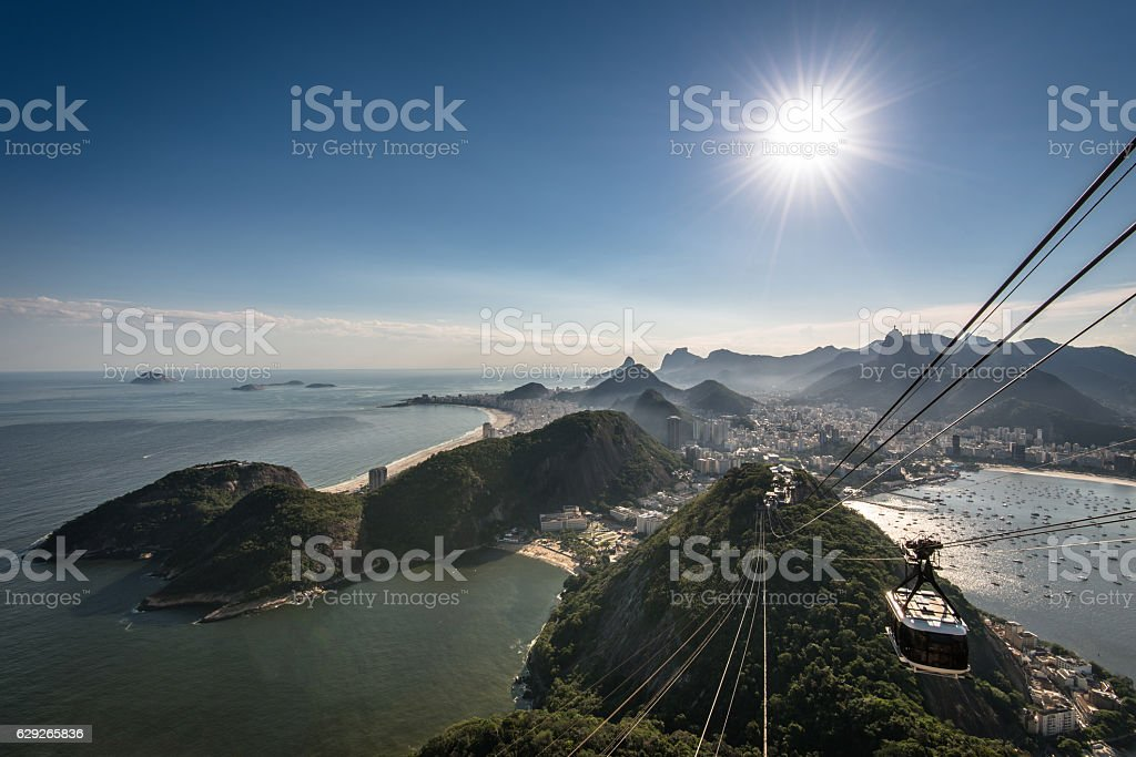 View of Rio de Janeiro From the Sugarloaf Mountain stock photo