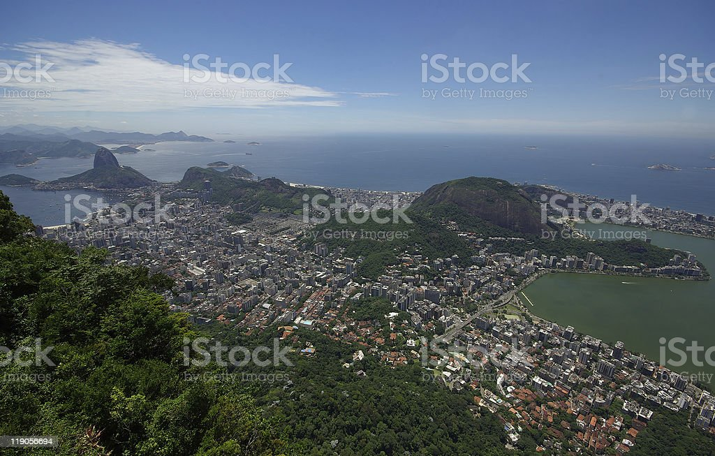 View of Rio from Corcovado royalty-free stock photo