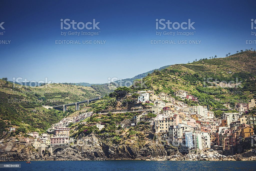 View of Riomaggiore, Italy royalty-free stock photo