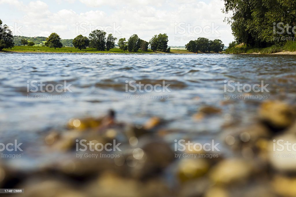 View of river Elbe in Radebeul, Germany. royalty-free stock photo