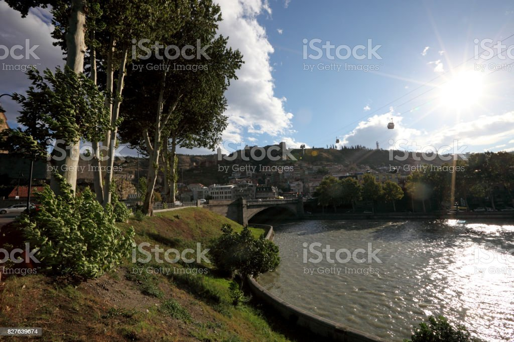 View of river Kura stock photo
