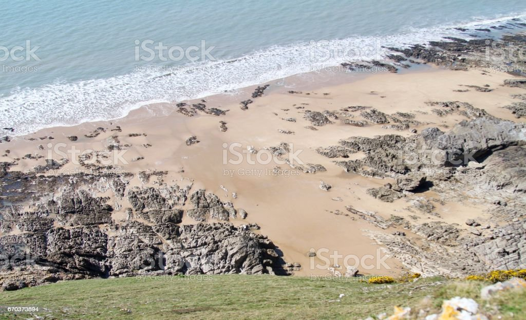 View of rocky coastline stock photo