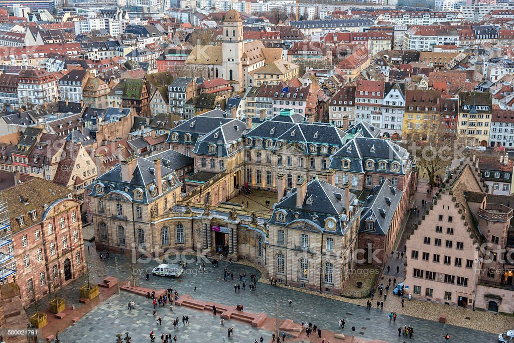 View of Rohan Palace in Strasbourg - Alsace, France stock photo