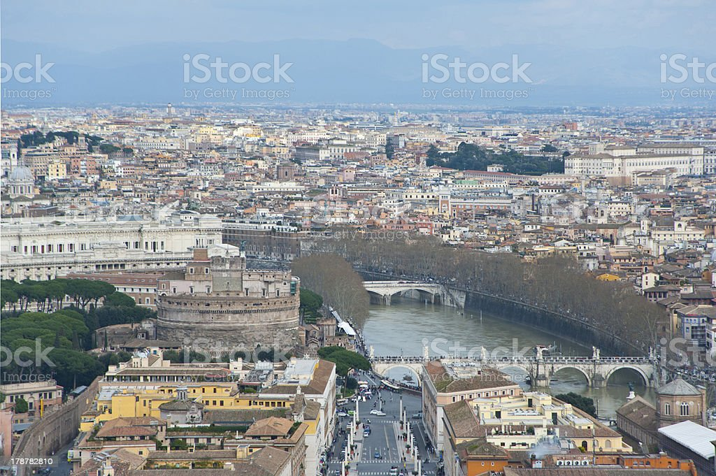 View of Rome  from above. royalty-free stock photo
