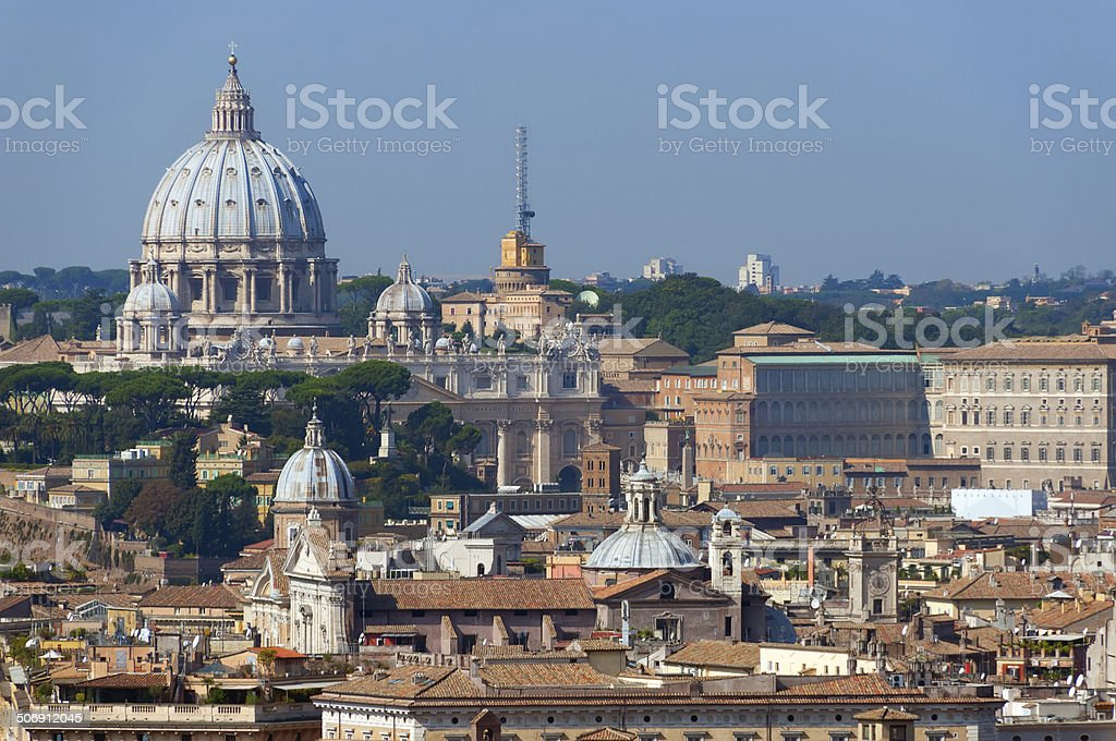View of Rome stock photo