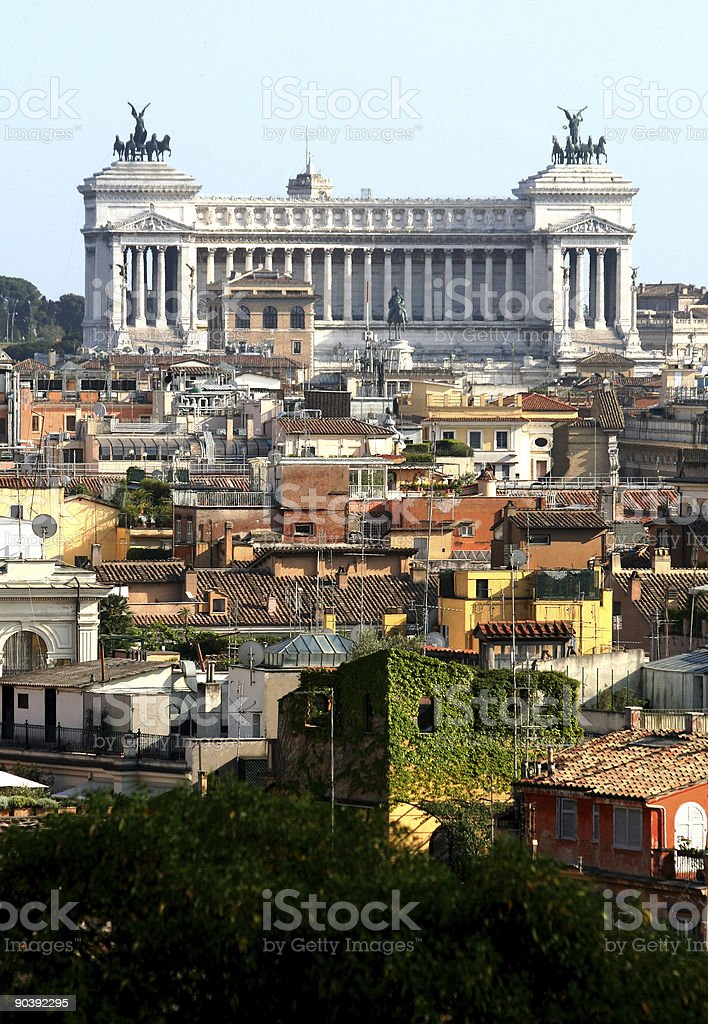 View of Rome with Vittorio Emanuele Monument, Italy royalty-free stock photo