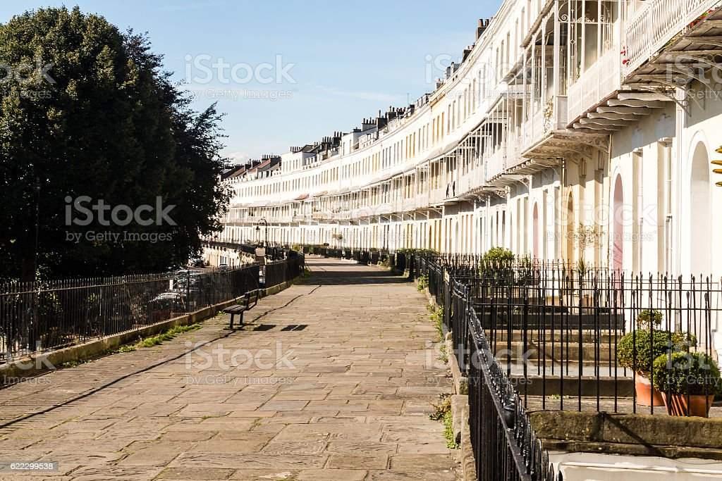 View of Royal York Crescent stock photo