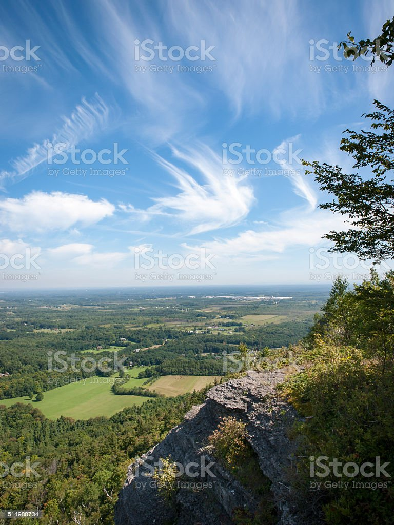 View of Rural Albany County, NY stock photo