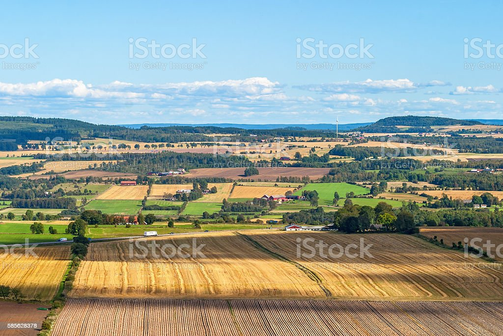 View of rural landscape in summer stock photo