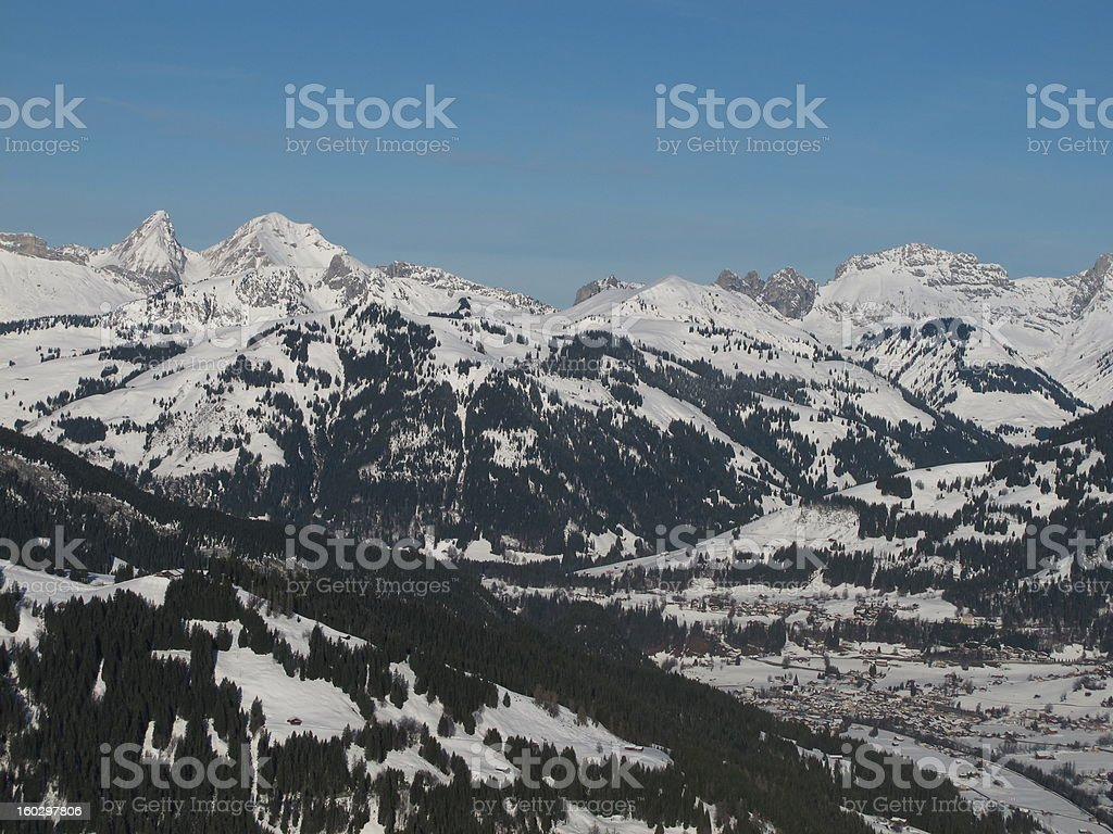 View Of Saanen In The Winter royalty-free stock photo