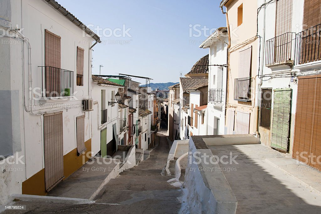 View of Sagunto historic town in Spain stock photo