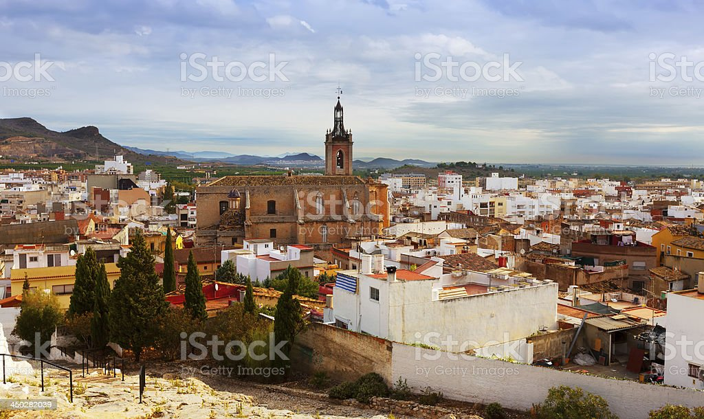 view of Sagunto in summer. Valencian Community stock photo