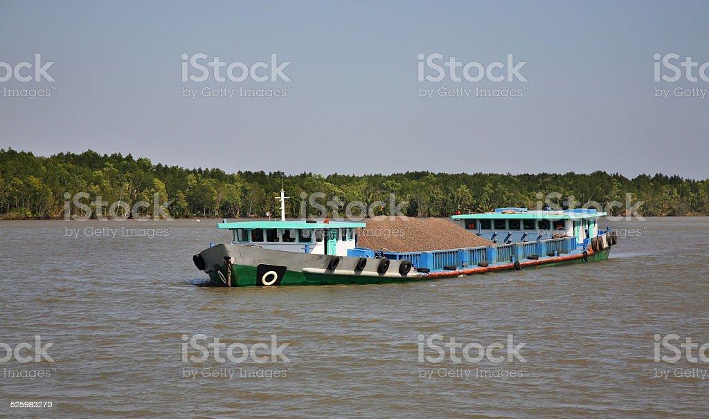 View of Saigon river. Vietnam stock photo