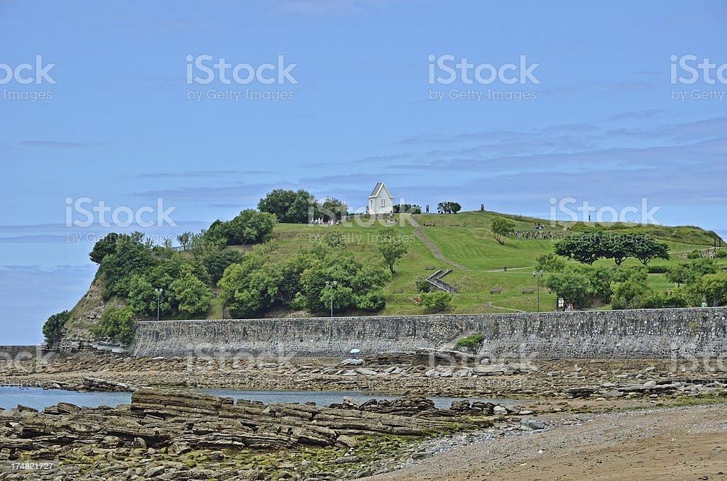 View of Saint-Jean-de-Luz at reflux royalty-free stock photo