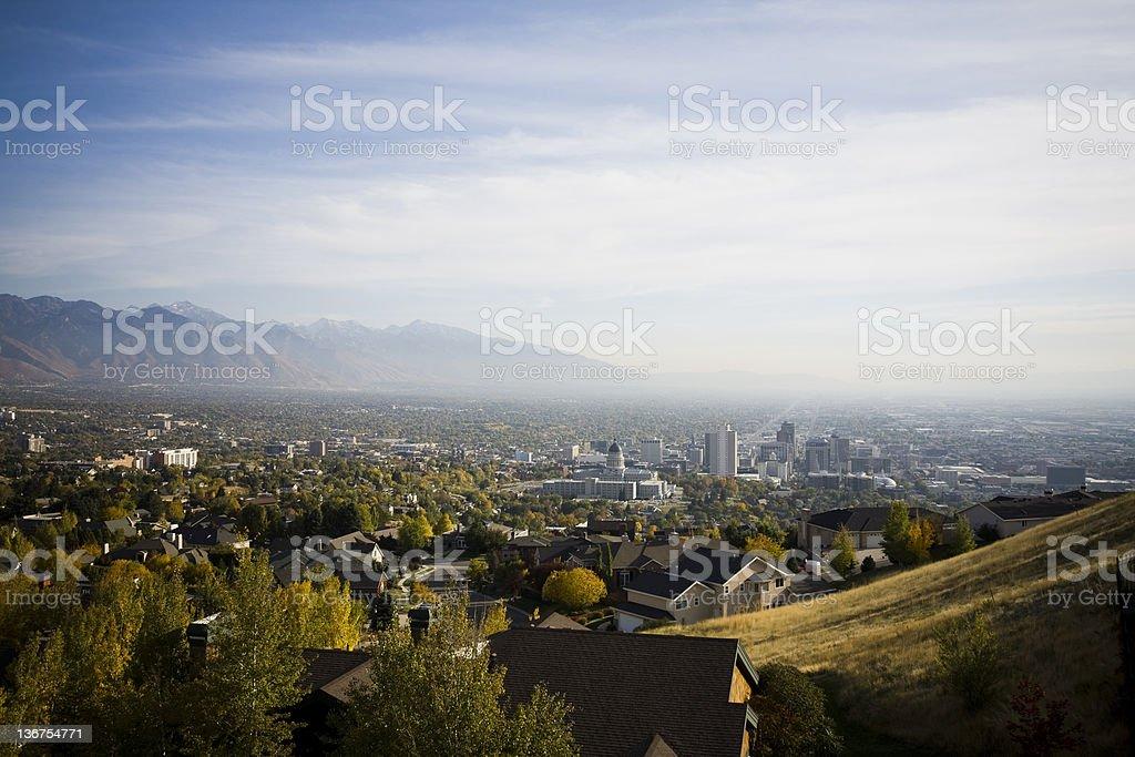 View of Salt Lake City, Utah royalty-free stock photo