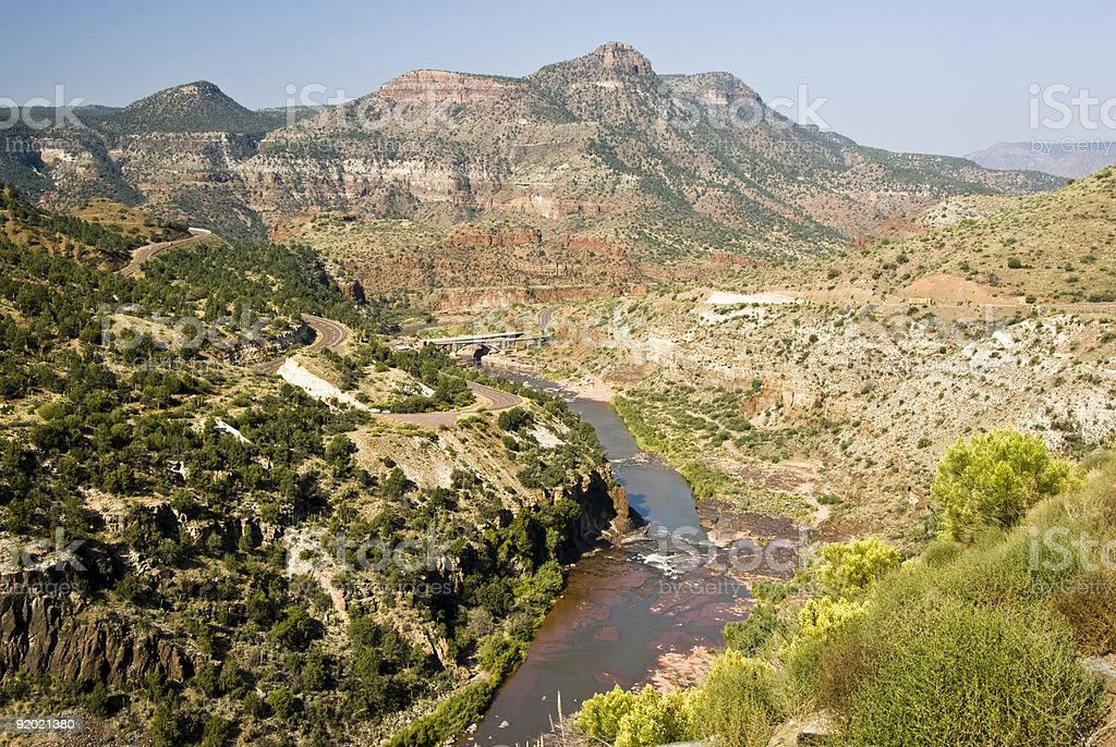 view of Salt River stock photo