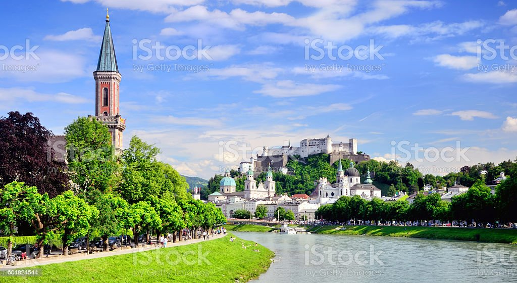 View of Salzburg stock photo